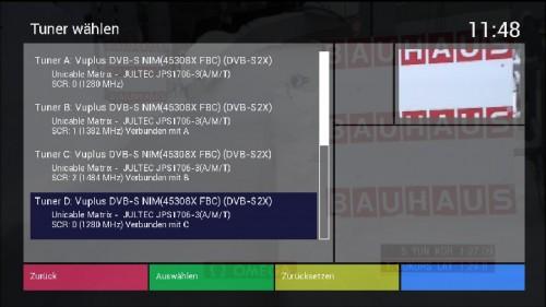 VU-Plus_Uno4kSE_FBC-Frontend_Tuner_Menu_Einkabel_UnicableEN50494_Uebersicht