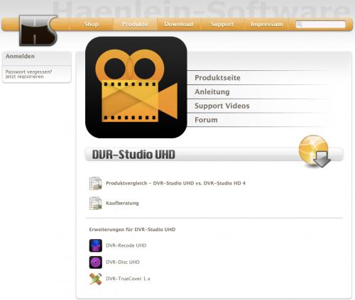 Haenlein-Software-Sammelseite-DVR-Studio-UHD