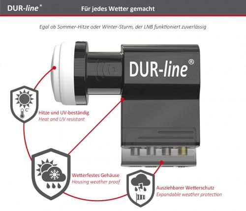 Dur-Line UK104 Unicable-LNB mit 3x Legacy
