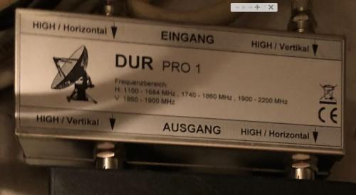 Dur EK 1 / Pro 1 Bildausschnitt (statisches-Einkabelsystem)