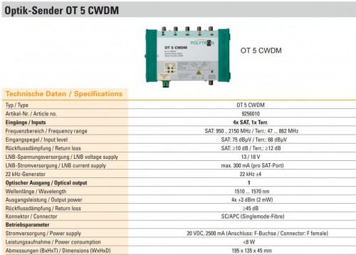 Polytron OT 5 CWDM technische Daten