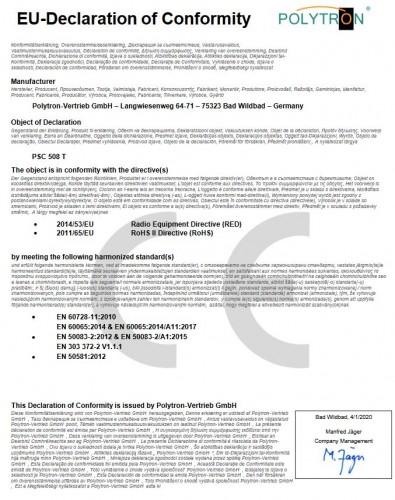 Polytron PSC 508 T EU-Declaration