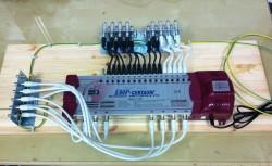 Multischalter EMP 17/8 mit Erdungsblöcken (Potentialausgleich)
