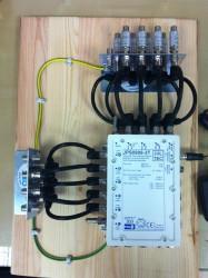 Multischalter Jultec JPS0906-3TN mit Erdungsblöcken (Potentialausgleich)