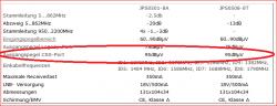 JultecJPS0501-8_Technische-Daten_Dämpfung_Ausgangspegel