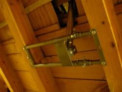 Dachsparrenhalterung montiert von innen