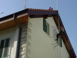 Wandabstandshalterung Dachmontage