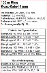 Koaxkabel 4mm technische Daten