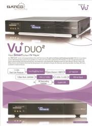 VU+ Duo² Datenblatt Seite 1<br />(Achtung: hier steht nur etwas von 2.5&quot; Festplatten-Einbau ! Es gehen auch 3.5&quot; Festplatten ins Gerät, die Halterung ist orig. dabei)