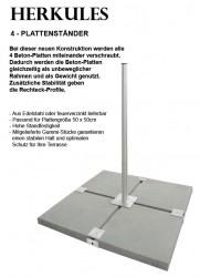Herkules Balkonständer / Plattenständer für 4 Gehwegplatten