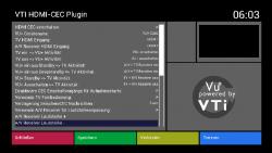 VU-Plus HDMI-CEC Screenshot Einstellungen/Menu