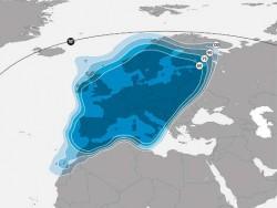 Europa-Beams 19,2 Grad Ost<br />Im Vergleich dazu der Europa-Beam von Astra 2C