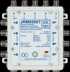 Multischalter 5/8 Jultec JRM0508T (voll receivergespeist) für 1 Satelliten (2. Produktgeneration)