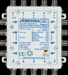 Multischalter 5/8 Jultec JRM0508A (voll receivergespeist) für 1 Satelliten (2. Produktgeneration)