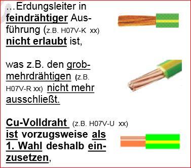 Kleiske Blitzschutz Erdung Potentialausgleich Erdungskabel massiv fein grob mehrdr�htig