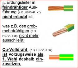 Quelle: Heinz A. Kleiske PDF Erdungsvorschriften<br />Erdung-Drähte-frein-grob-massiv ( geerdet werden (nach Praxis IT Handwerk von Heinz A. Kleiske / http://www.kleiske-it.de/fachartikel.html)