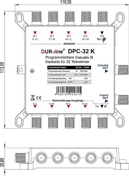 Dur-Line_DPC32K_JESS_EN50607_Unicable_EN50494_Umsetzer_Multischalter-Kaskade_Abmessungen.jpg