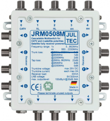 Jultec JRM0508M Multimedia Kaskade ohne terrestrischen Ausgang in der Kaskadierung