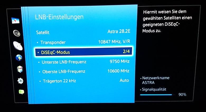 Anleitung Zum Einstellen Eines Samsung Fernsehers Auf Unicable